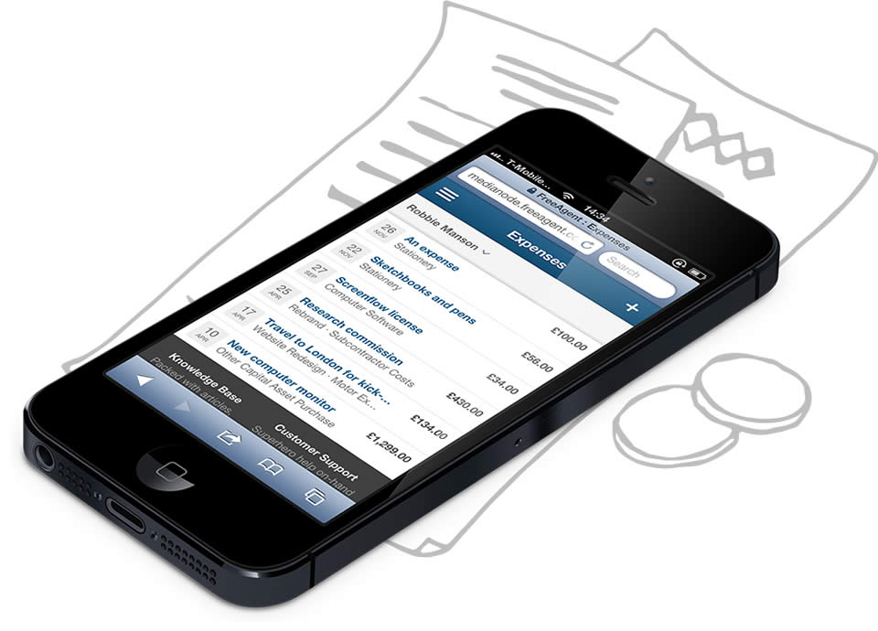 Upload expenses from your smartphone