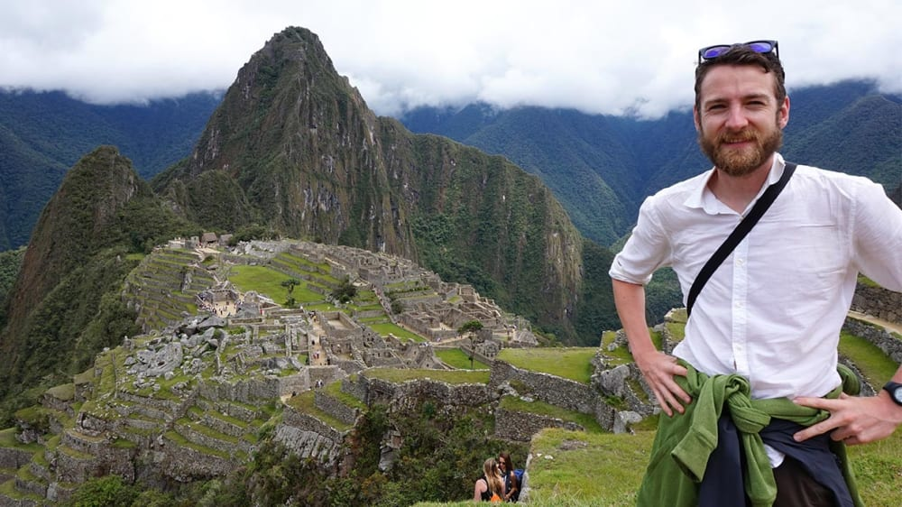 Paddy Donnelly in front of Machu Pichu