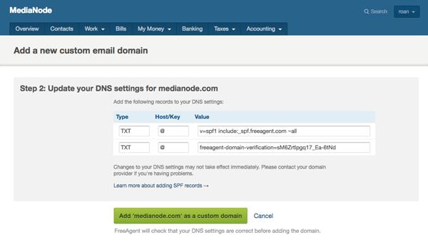 Add custom email domain