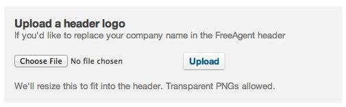 Upload a header logo