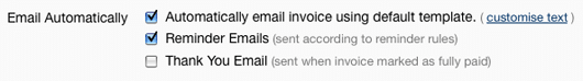 Sending Invoice Emails