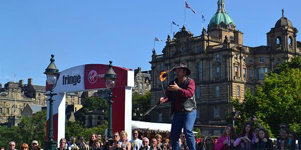 photo of Edinburgh during the festival season