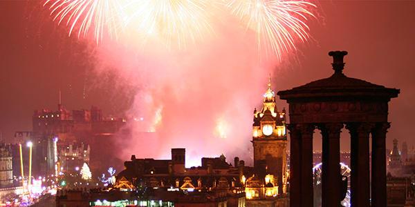 photo of fireworks in Edinburgh