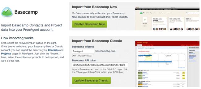 Basecamp New Integration