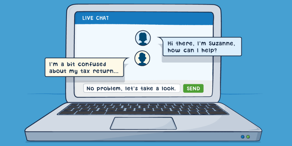 Get speedy support with live chat