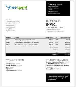 Elliot Jay Stocks invoice
