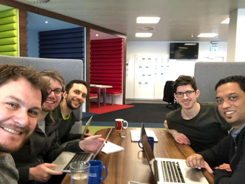 The MTD API team hard at work!