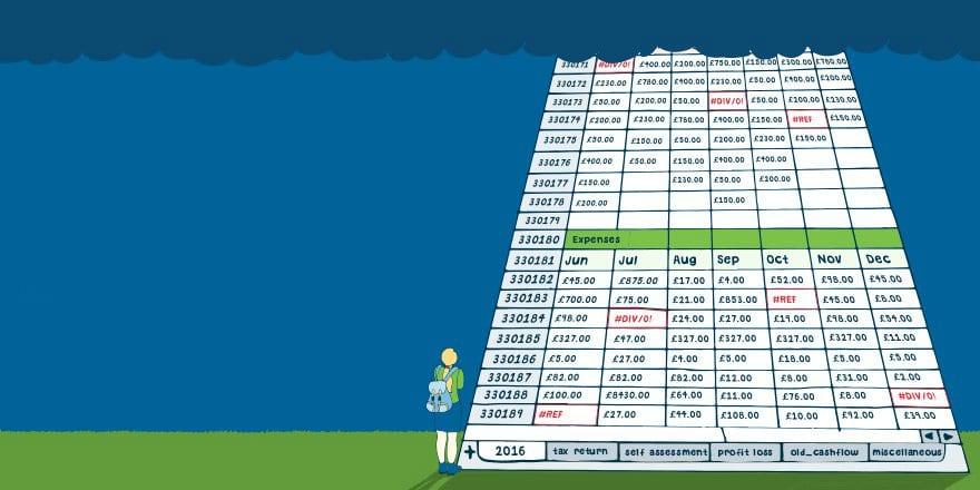 nightmarish Excel spreadsheet for accounts template