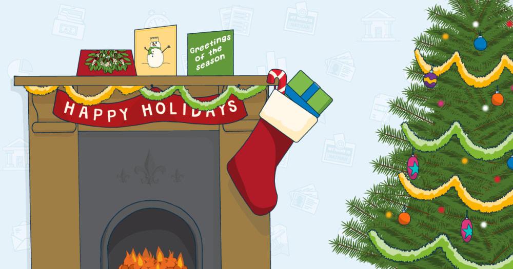 A festive FreeAgent fireplace