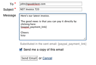 Pay by PayPal from your invoices
