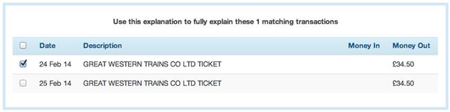 explain similar transactions individually