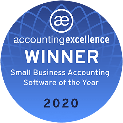 Accounting Excellence Winner 2020 - Small Business Accounting Software of the Year
